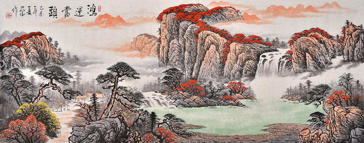 中国著名络画家蒋伟山水画作品欣赏