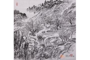 易天也小尺寸山水画作品《山水画系列之一》