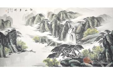 ¥5000                                        王林扇子山水画系列