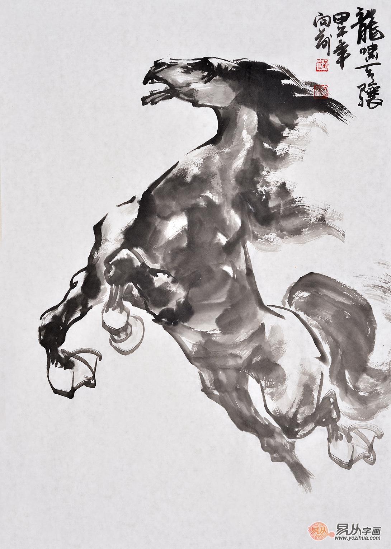 评析当代擅长画马的画家路向前八骏图作品