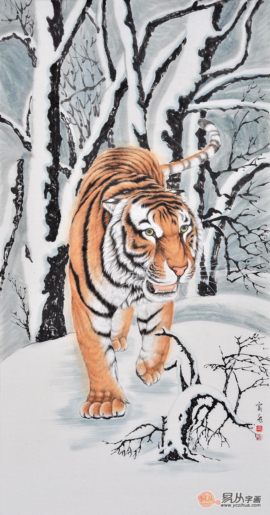 """下山虎如果纹在前身,借其凶猛的气势,镇住入侵的邪灵。中国有崇尚虎的文化传统。我姑且称之为""""虎文化""""。虎文化有丰厚、深远的积淀,渗透到审美与价值观念等许多方面。""""虎虎有生气""""、""""龙腾虎跃""""、""""虎踞龙盘"""",这些词语不仅象征着生气与活力,非凡的风范与气度,还表征着一种宏观气象。 下山虎是发财。 虎的象征意义 """"身披虎甲背神弓,霸王金冠谁可摘"""" """"身披虎皮袄,脚踏豹纹靴,端的是威风凛"""