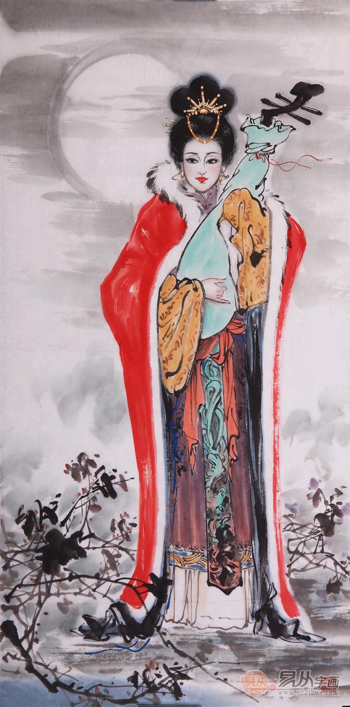 昭君出塞工笔画_叶浅予人物画古代人物画中的经典_【易从网】