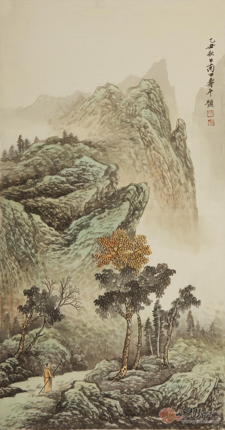 仿恽寿平三尺竖幅山水作品《乙丑秋日》-仿古山水画的精彩魅力在哪里