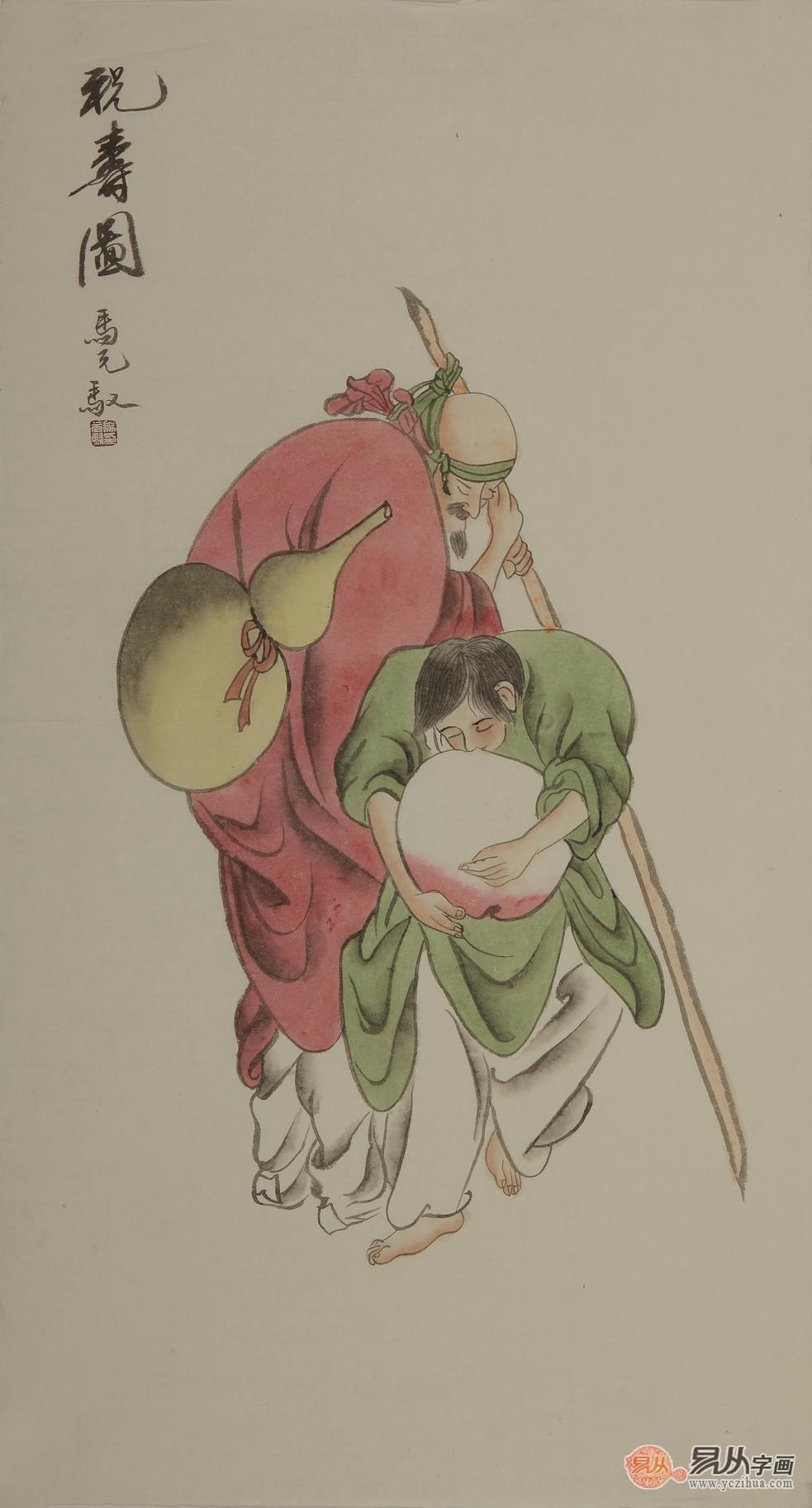 仙鹤寿桃剪纸