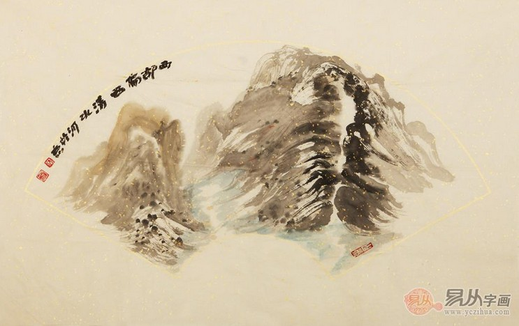国画山水画中山石的画法