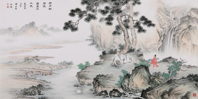 西画风景对景写生,如何欣赏,如何欣赏直面其中,中国山水画有一个升华的过程 - 张美才 - m13853674751的博客