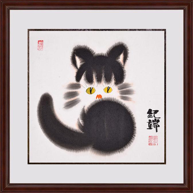 富飞四尺斗方动物画作品十二生肖系