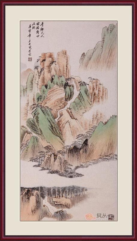 广东家里适合挂的山水字画 - 北京轩易德文化传播有限图片