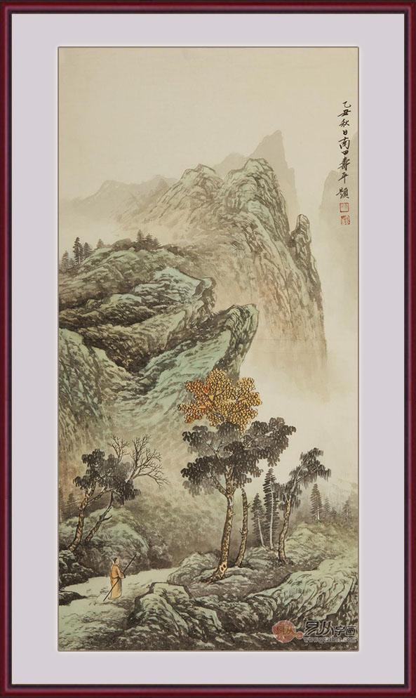 盆山水画面寓意深刻:前有财路