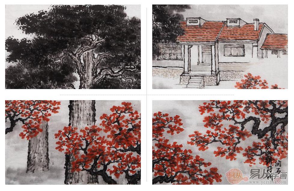 房子的前面是绿树红花,尤其是那一树树的红花,象征着日子红红火火,蒸