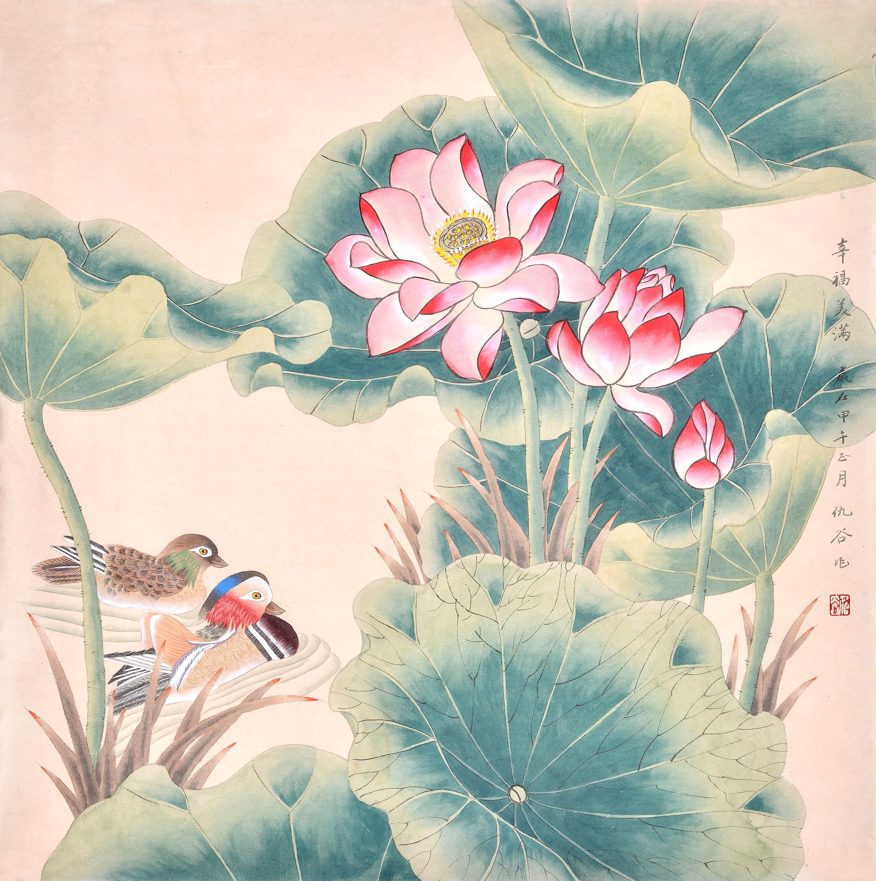 比如花鸟画牡丹图不宜悬挂在客厅西方,因为牡丹图五行属木,西方为金