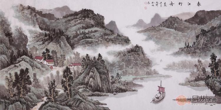 有人的铅笔画山水画-易从网浅谈中国山水画的特点