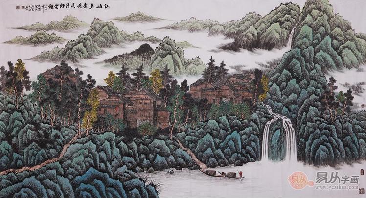 吴大恺青绿山水画作品欣赏