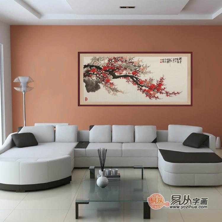 客厅沙发背景墙挂什么画合适