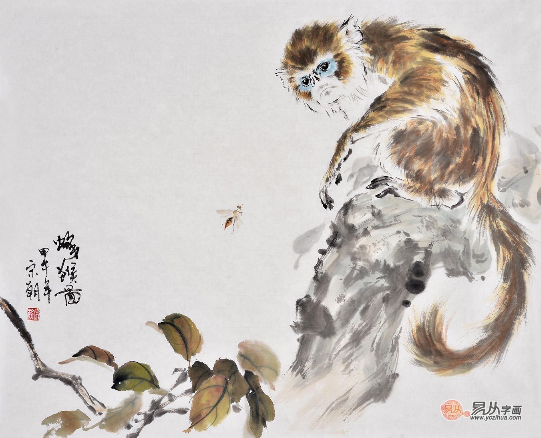 国画动物画猴子作品鉴赏