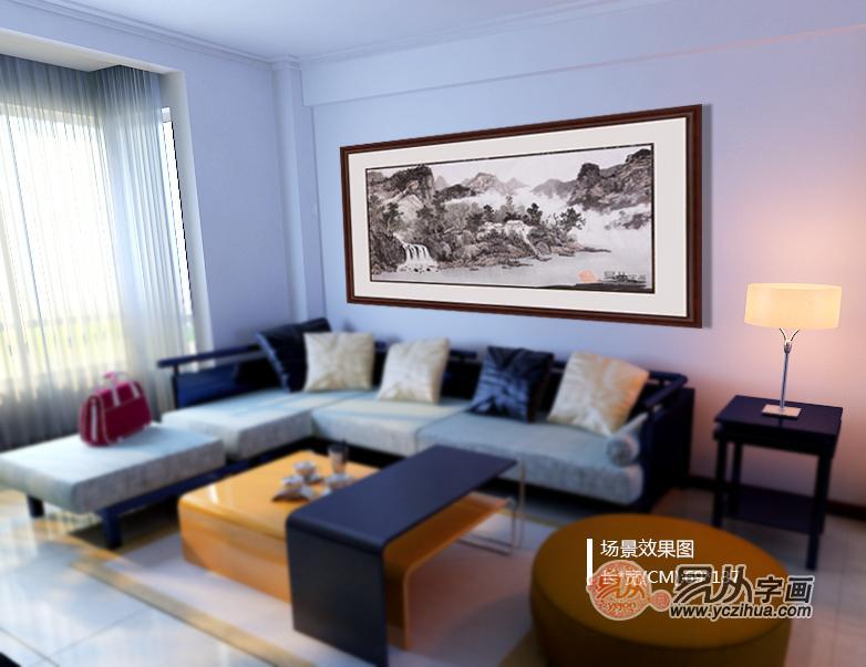 客厅墙上装饰品,易从山水画在家居装饰中的四大优势