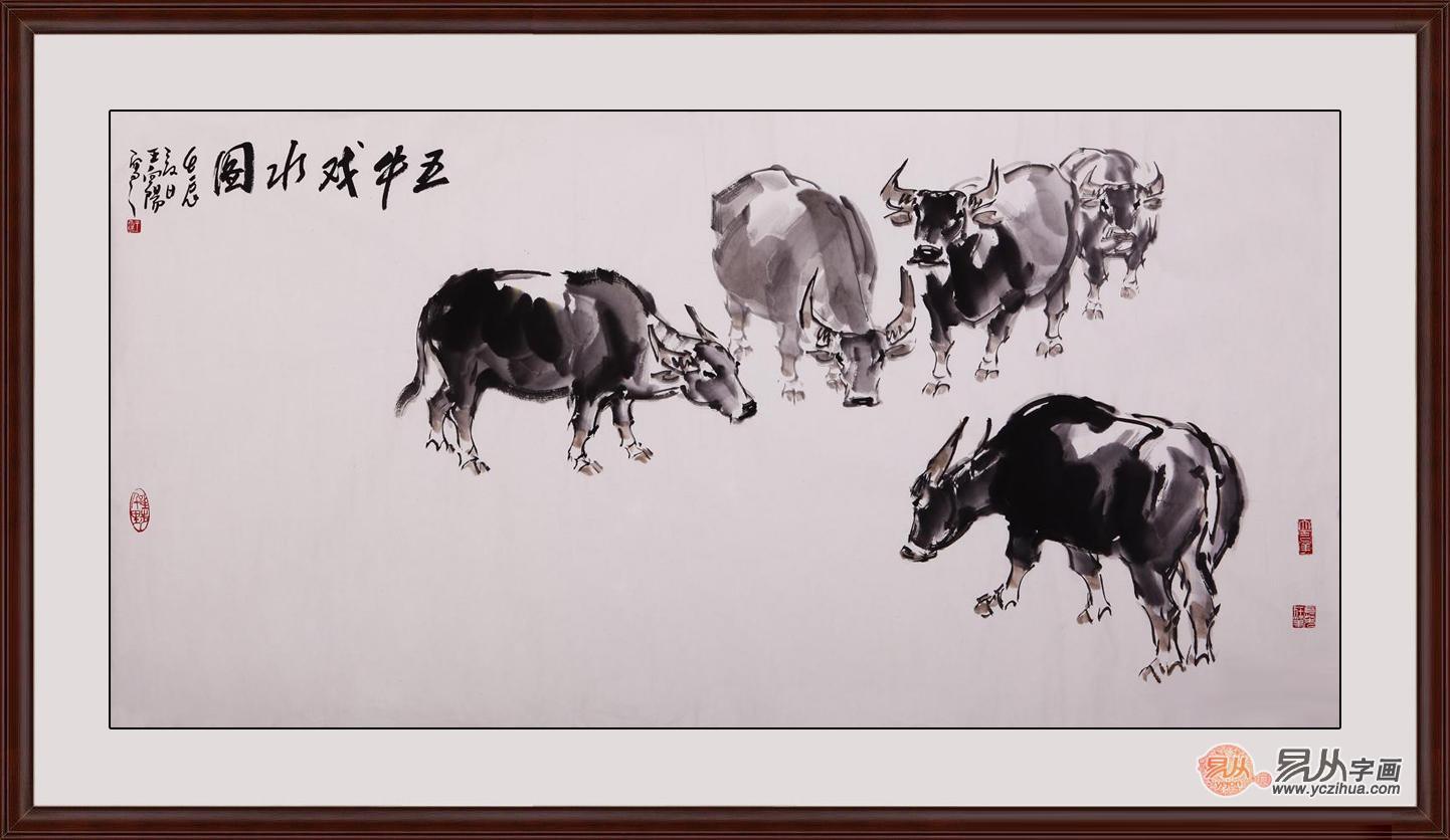 当代擅长水墨画画家王向阳动物画推荐-红豆社区