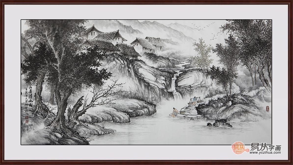 現代客廳裝飾畫_適合掛在客廳的山水畫