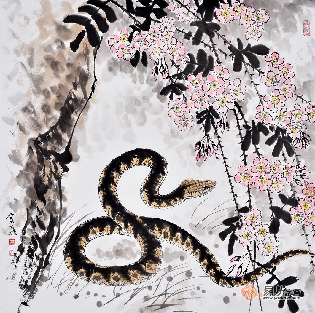 欧式宫廷画橘子树蛇
