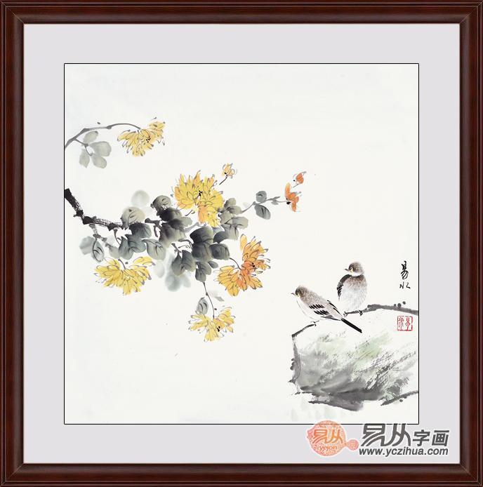 简单的中国画琵琶果