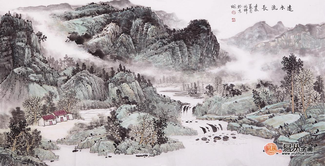 关山月的山水画有什么特点图片