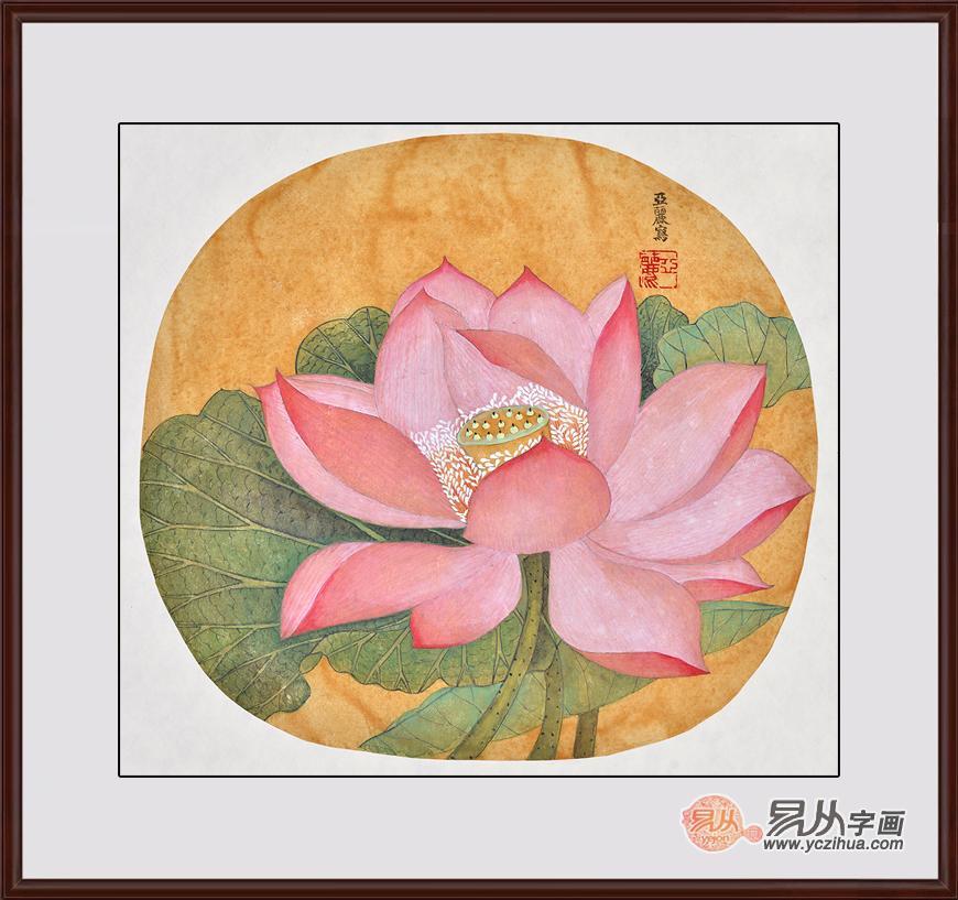 荷花挂画,像工笔画和写意画,对于很多人欣赏品味是有着区别的,用来