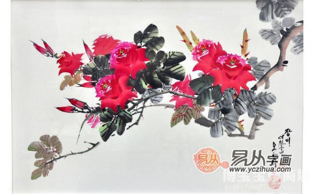 丹花作品欢迎来易从网资讯、订购.更多的国画作品、书法作品欣赏