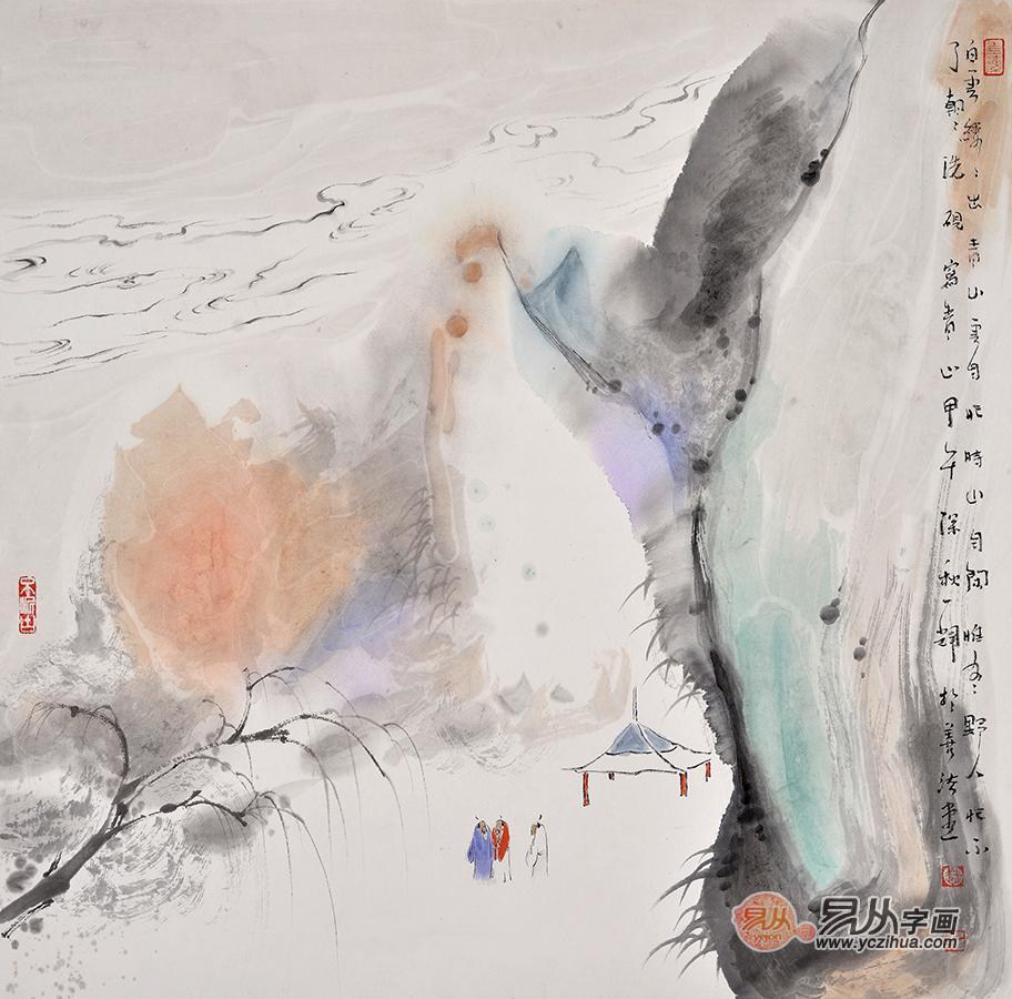 写意画作品《寄语天涯客》作品来源:易从山水画   赵一辉国画