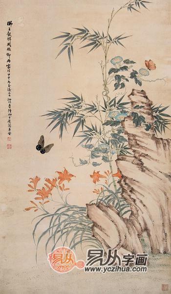 工笔画蝴蝶 花之伴侣