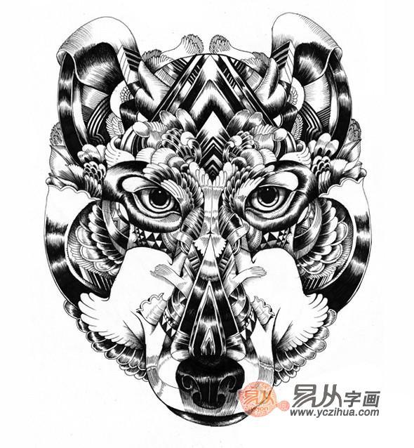 动物黑白装饰画大全