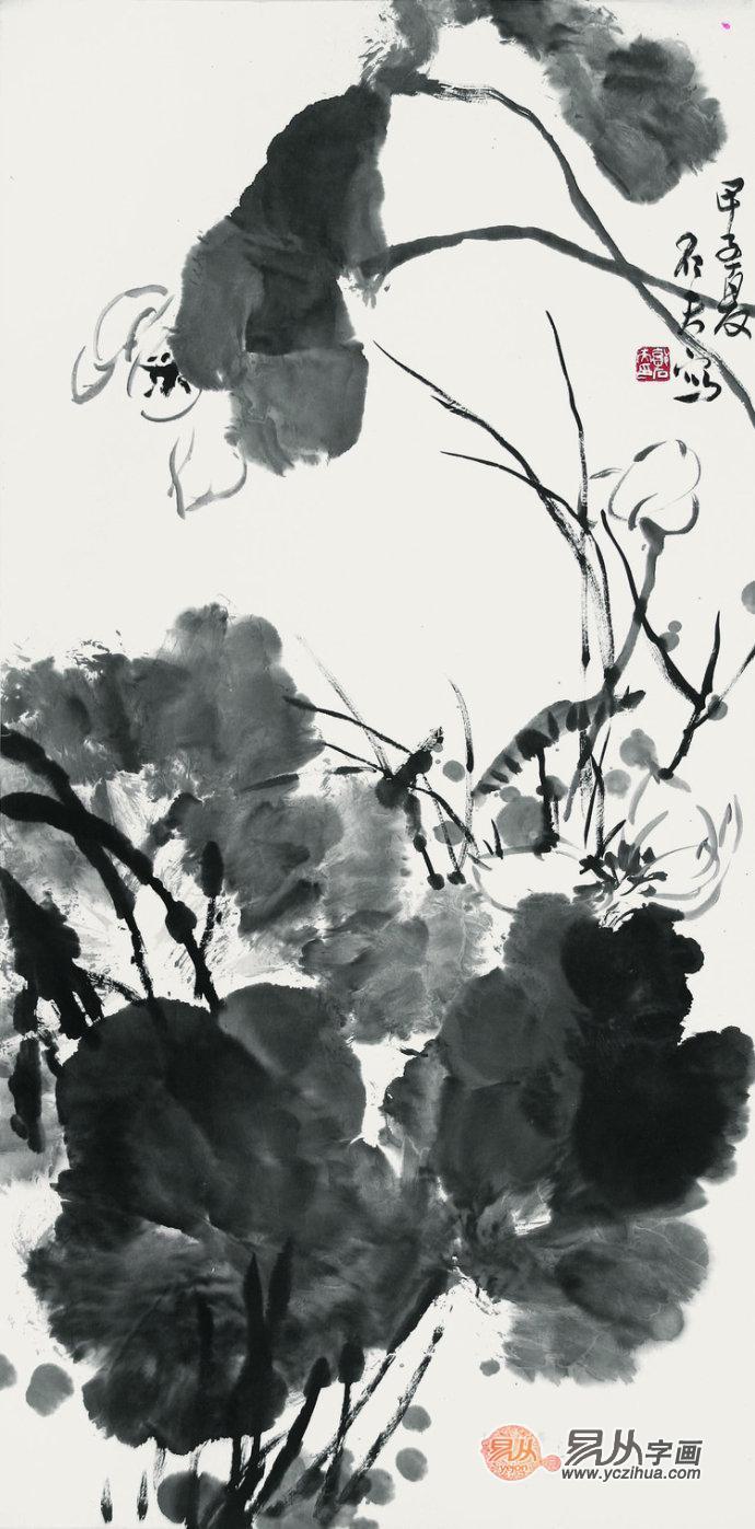 郭石夫大写意花鸟画集:   或者更多的国画作品、