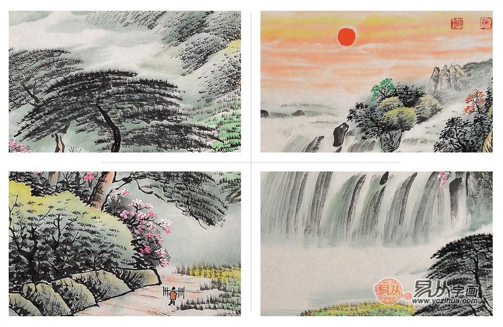 国家一级美术师蒋伟山水画真迹欣赏