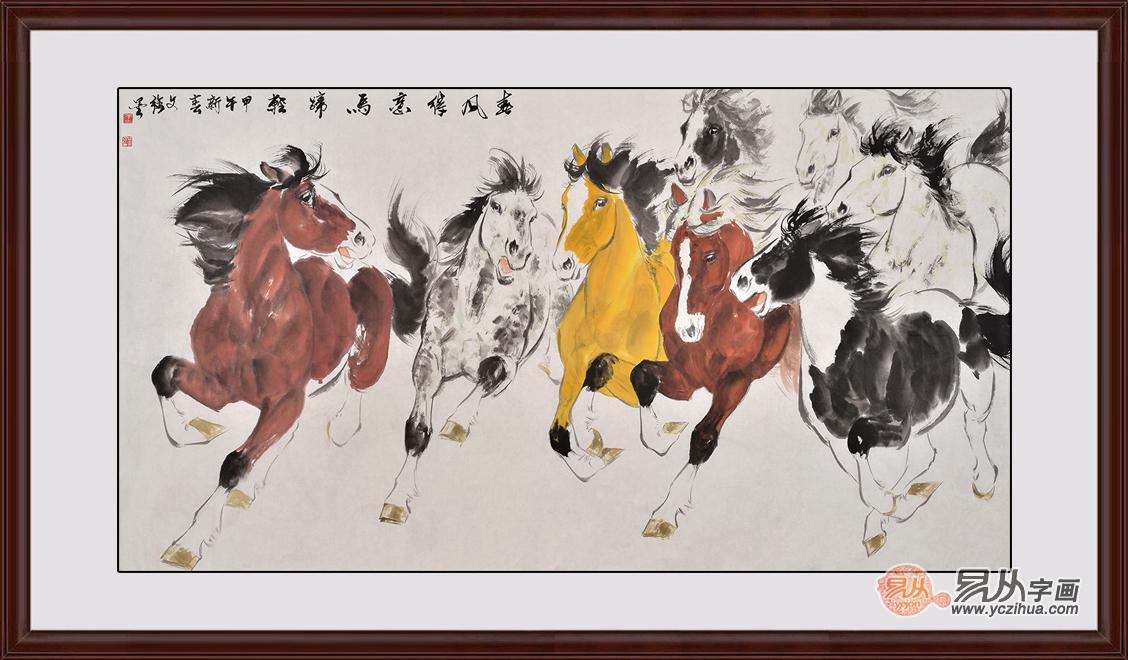 王文强动物画作品《春风得意马蹄轻》