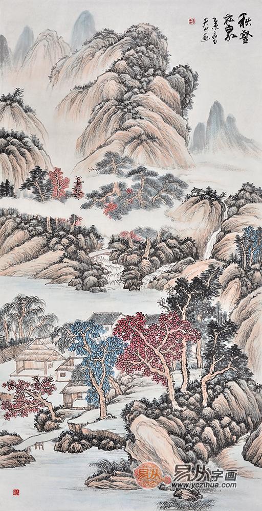 玄关风水装饰画山水画