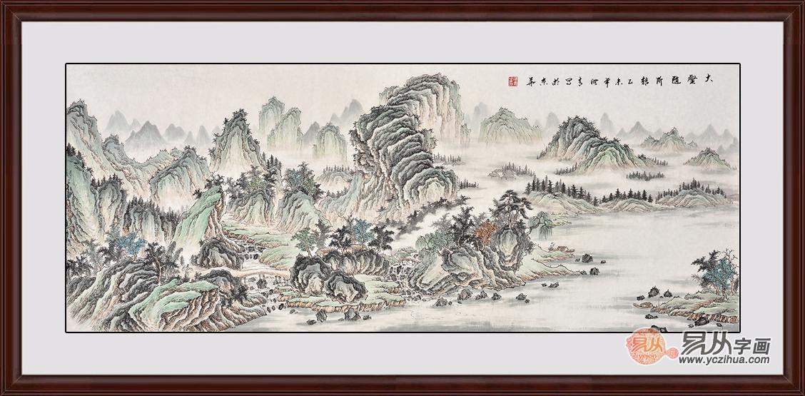 名人字画欣赏 刘海青精品山水赏析-书画贴图图片