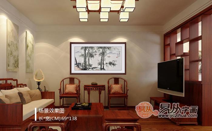 現代家庭客廳裝飾選什么字畫好 竹子圖寓意平安幸福