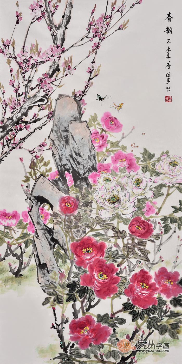 中式玄关走廊挂什么装饰画 推荐国画花鸟画