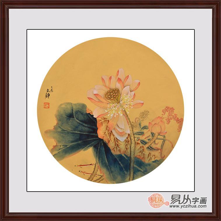 中式客厅挂葫芦字画好吗-【作品推荐】:工笔画荷花图片 何文铮花鸟画