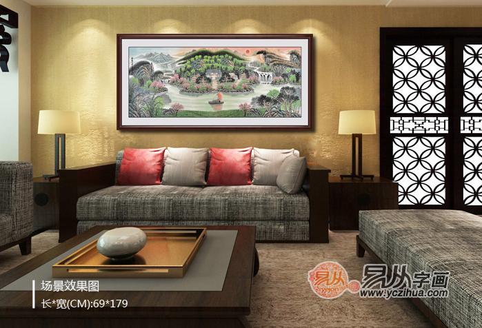 关注客厅沙发背景墙装饰画