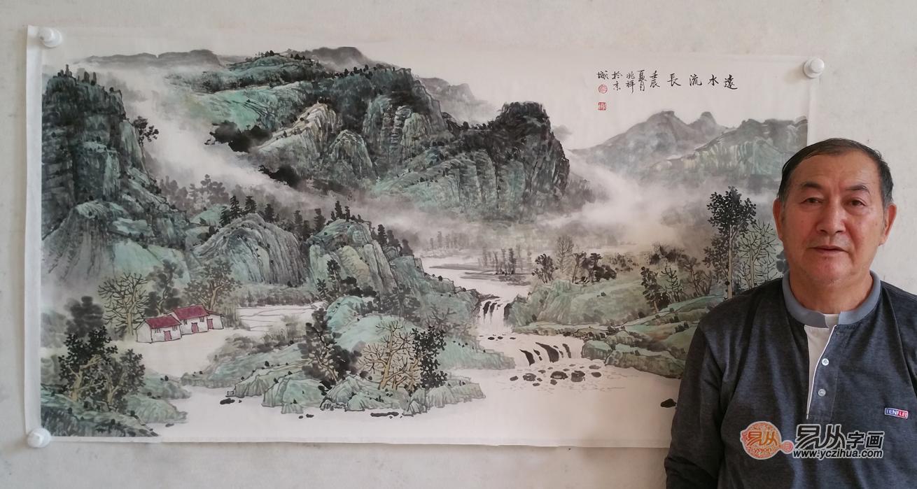 当代名家沈兆祥山水画作品欣赏