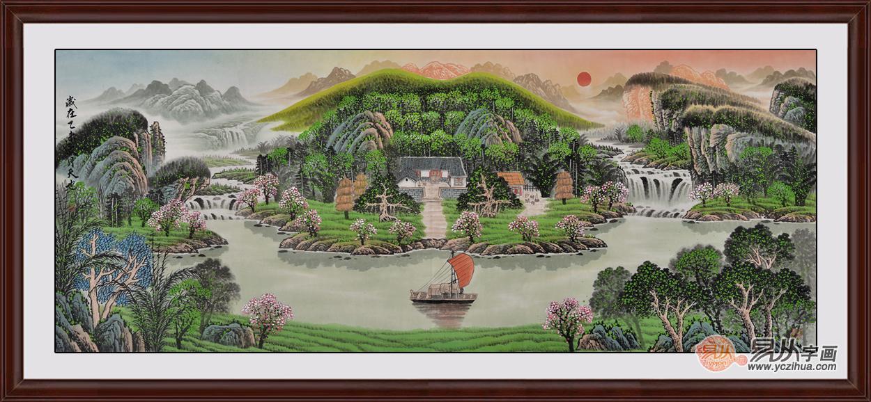 家中选择什么样的装饰画合适 旺财改运山水画