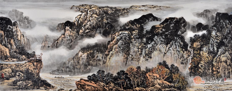 当代实力女画家刘亚山水画欣赏 墨法精微活力新意