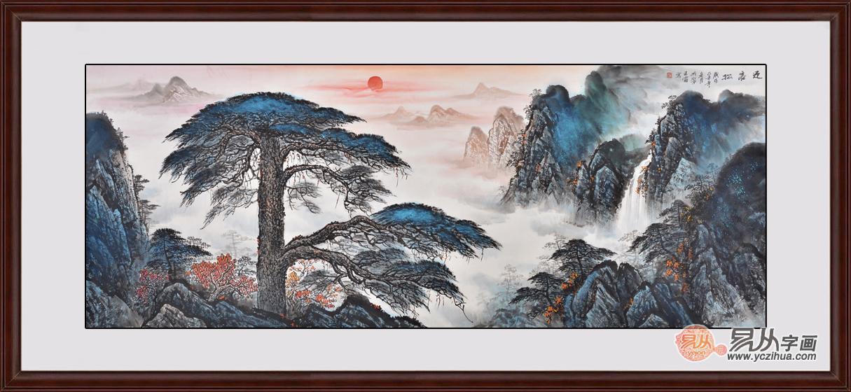 適合掛在客廳東墻的山水畫作品